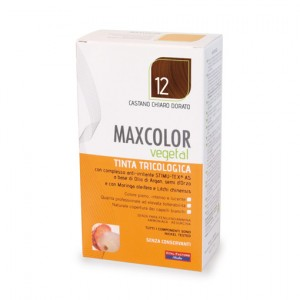 MAX COLOR VEGETAL 12 CASTANO CHIARO DORATO 140 ML